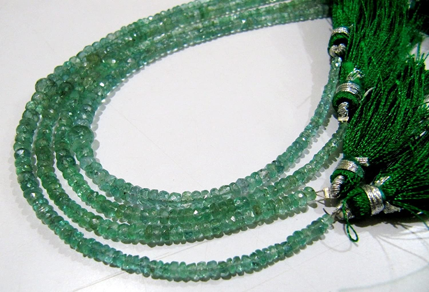 Green Emerald Gemstone Round Beads Jewellery Necklace 20 inch Huge 12mm AAA