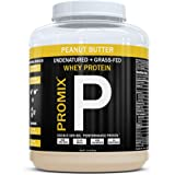 PROMIX #1 Selling Peanut Butter, Undenatured 100% California Grass Fed Whey Protein, 1LB Bulk, Preservative Free, Mixes Instantly