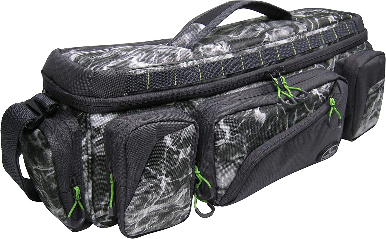 Evolution Outdoor Design Mossy Oak Elements Large Mouth in-Line Tackle Bag 3600 Manta Grey Camo Evolution Fishing 31018
