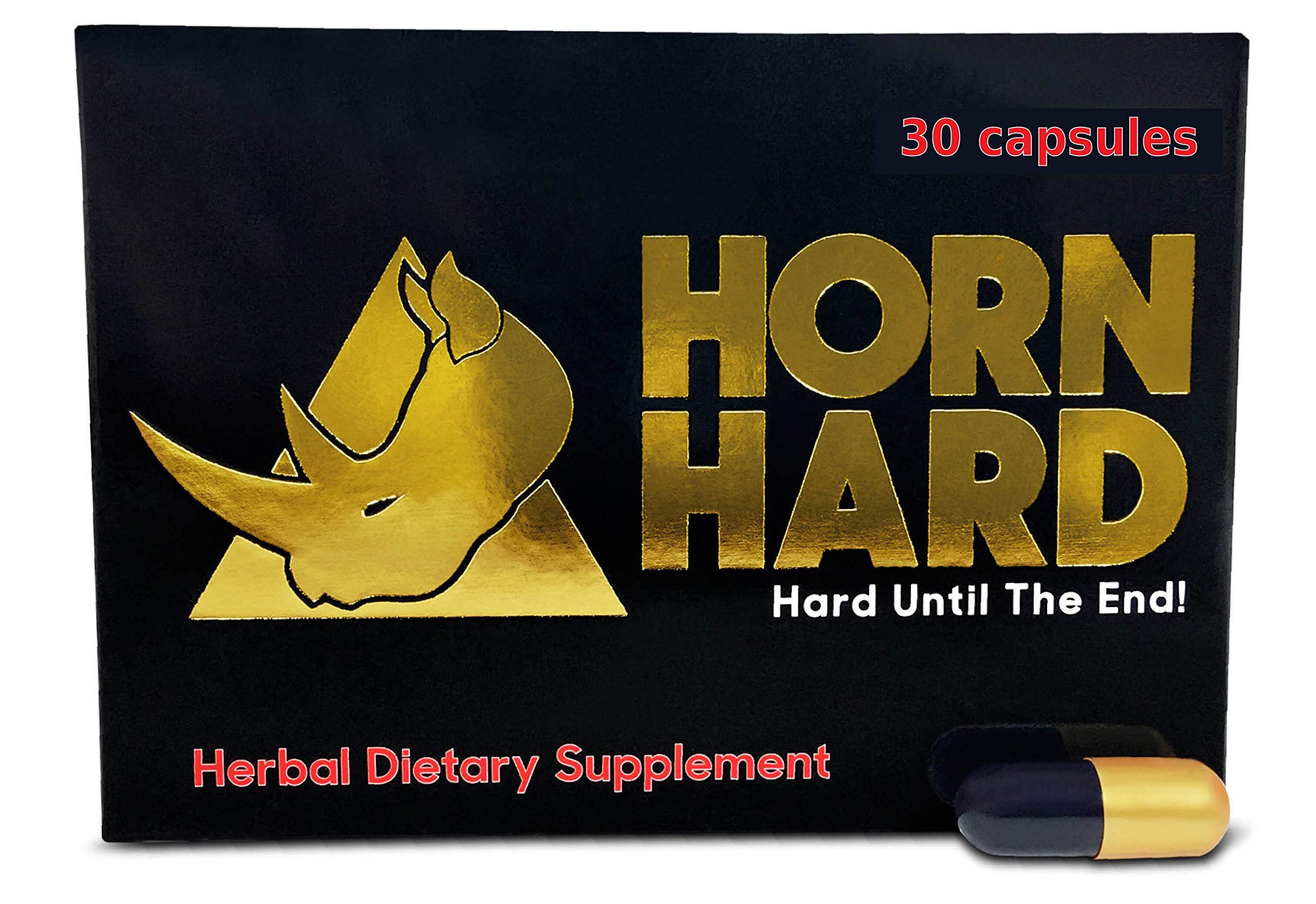Horn Hard (30 Caps) Male Performance, Energy, Enhancement, and Endurance