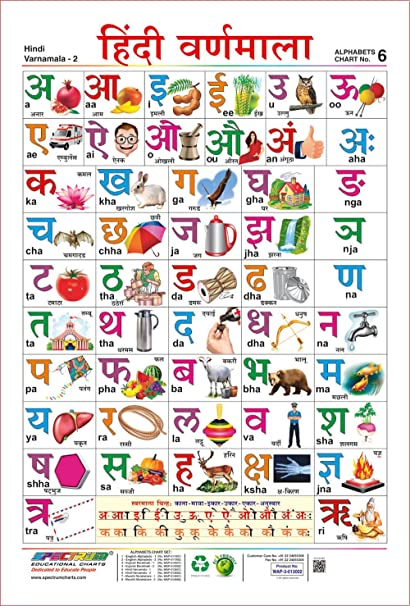 Amazon.com: Spectrum Laminated Pre   School Learning Hindi