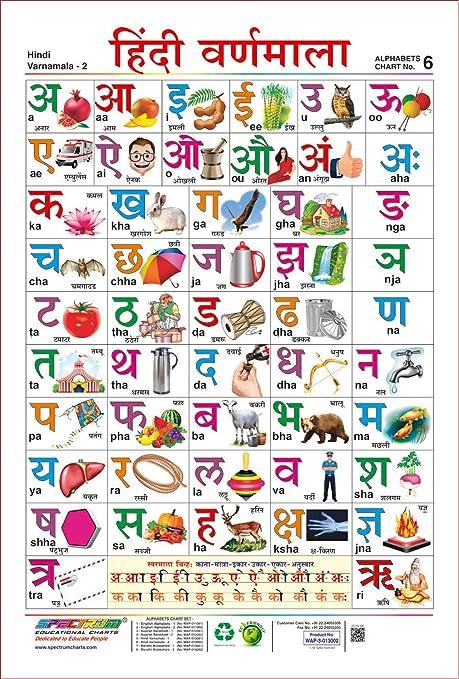 Amazon spectrum laminated pre school learning hindi varnamala spectrum laminated pre school learning hindi varnamala educational wall chart ccuart Choice Image