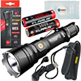 Klarus XT12GT CREE XHP35 HI D4 Rechargeable LED Flashlight with an Extra 3400mAh 18650 Battery Included and a LightJunction Battery Case