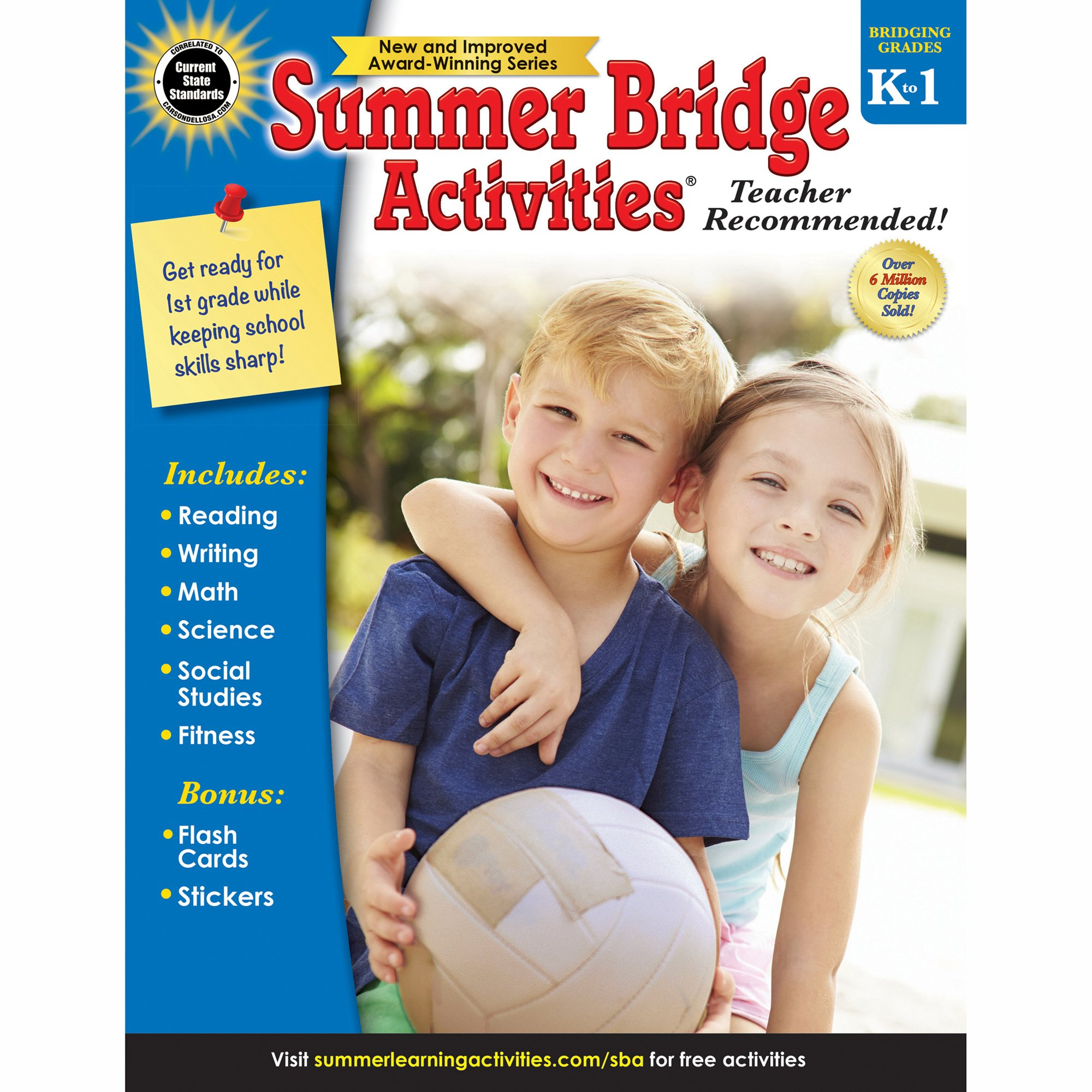 Summer Bridge Activities®, Grades K - 1 by Carson-Dellosa