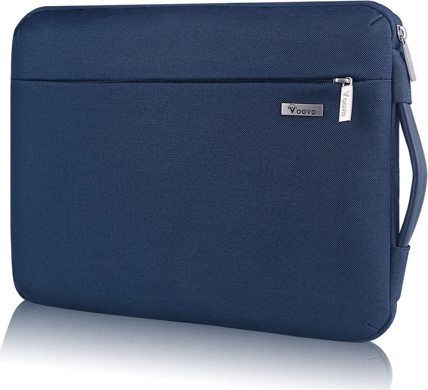 "Voova Laptop Sleeve Case 11 11.6 12 inch with Handle, Upgrade 360° Protective Computer Bag Compatible with Chormebook/MacBook Air/Surface pro 7 6, 12.5"" Tablet Cover with Organizer Pocket,Blue"