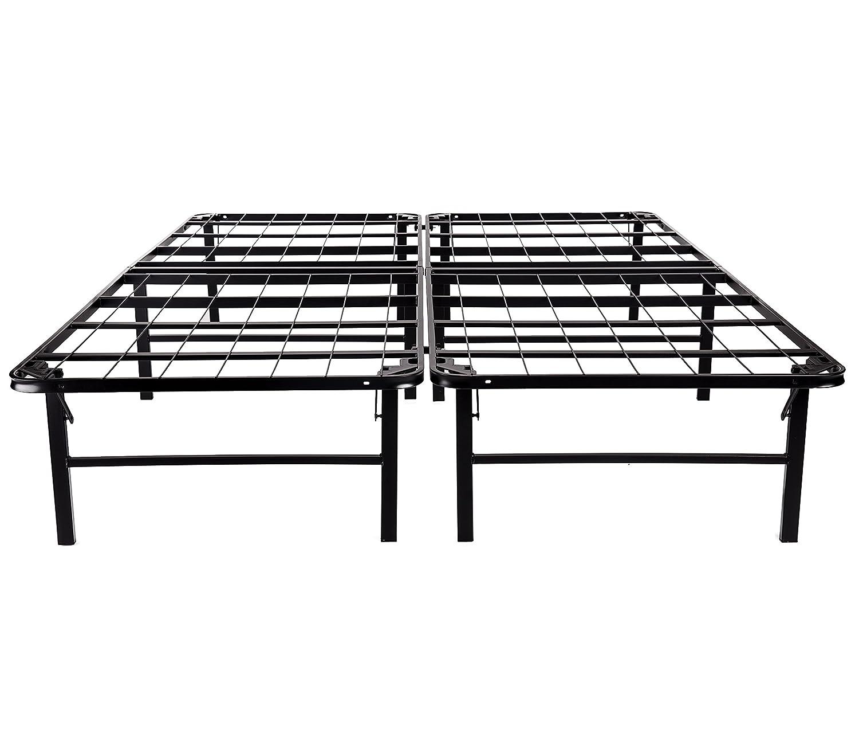 Sleeptune 14 Inch Platform Bed Frame Mattress Foundation Box Spring Replacement Noise-Free Maximum Under-bed Storage Queen