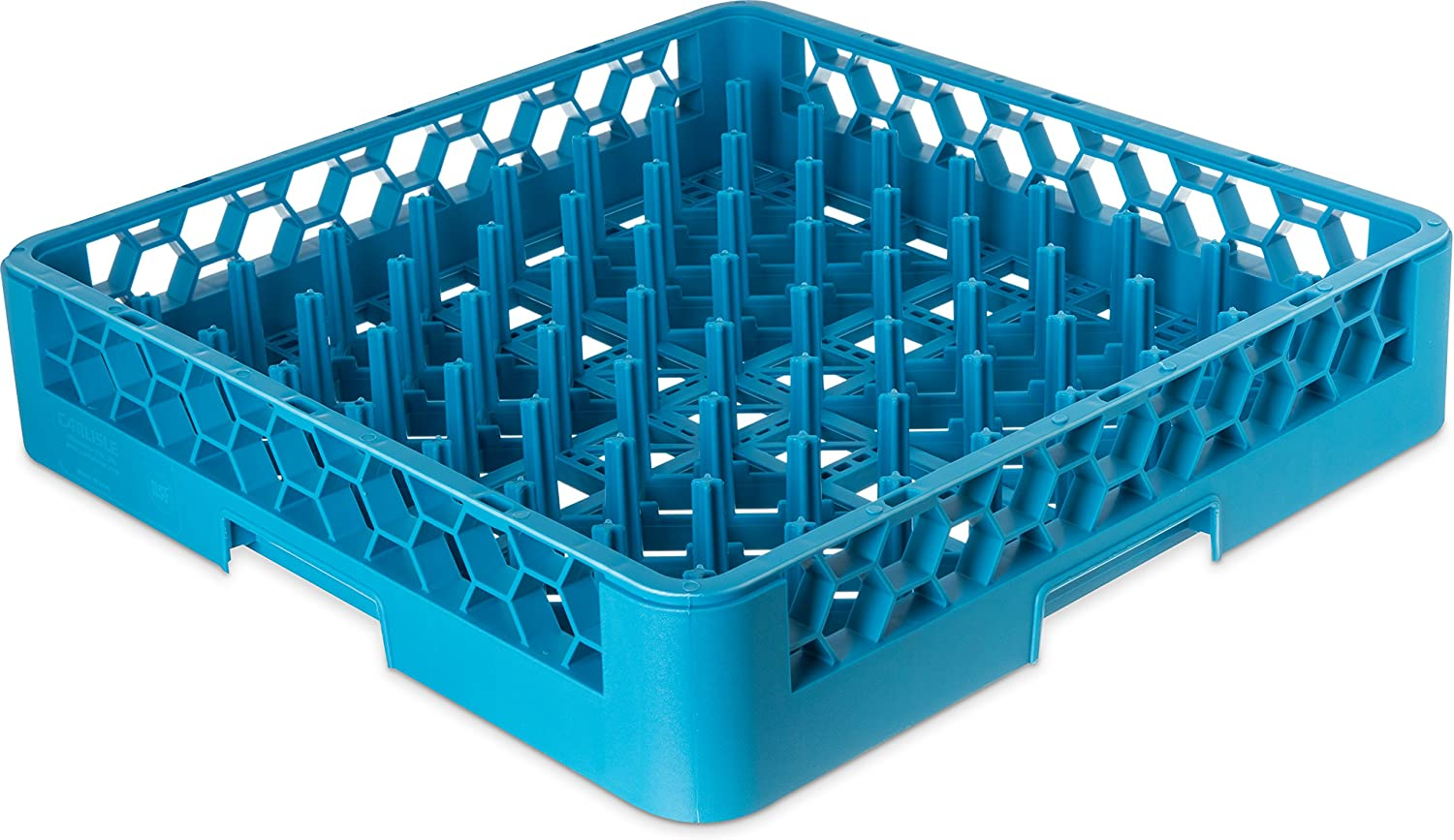 "Carlisle RP14 OptiClean All-Purpose Plate & Tray Rack, Polypropylene, 20.75"" Length, 20.50"" Width, 4.00"" Height, Blue (Case of 6)"
