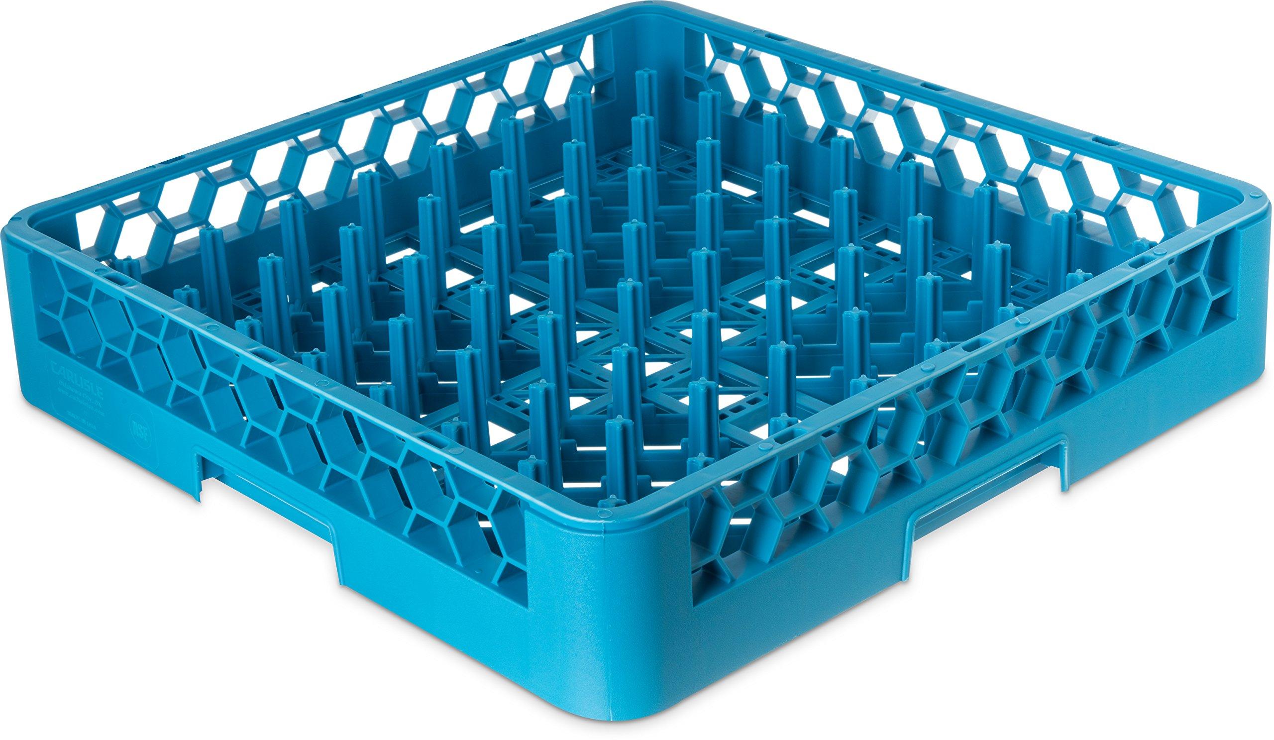 Carlisle RP14 OptiClean All-Purpose Plate & Tray Rack, Polypropylene, 20.75'' Length, 20.50'' Width, 4.00'' Height, Blue (Case of 6)
