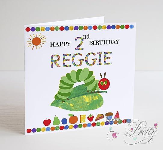The Hungry Caterpillar Inspired Boys Birthday Card Amazon