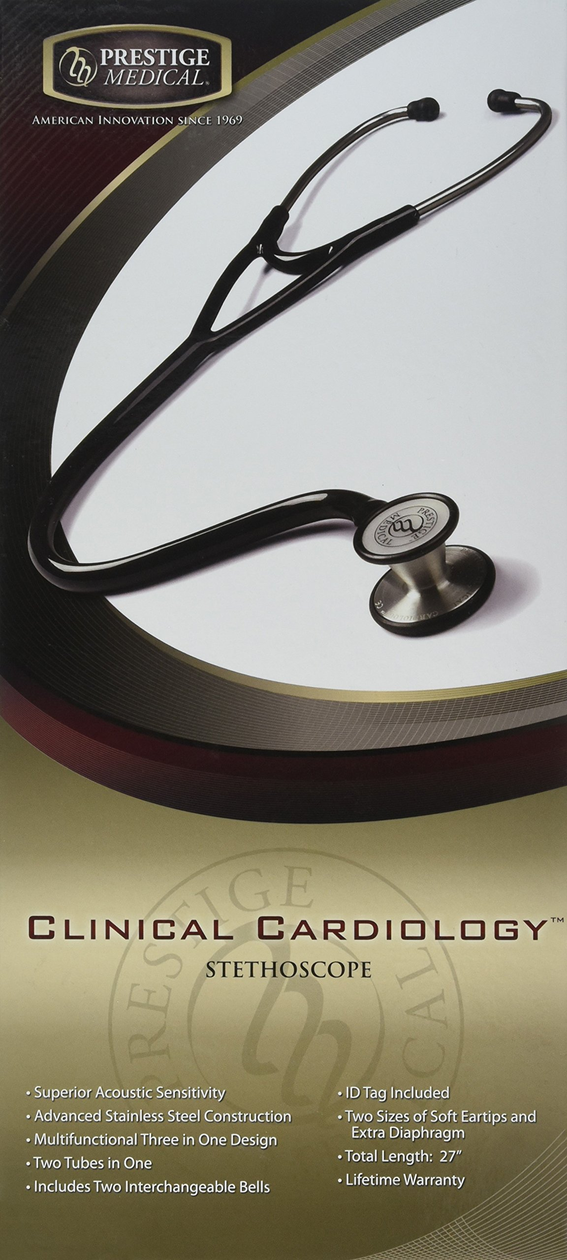 Prestige Medical Clinical Cardiology Stethoscope, Stealth by Prestige Medical (Image #1)