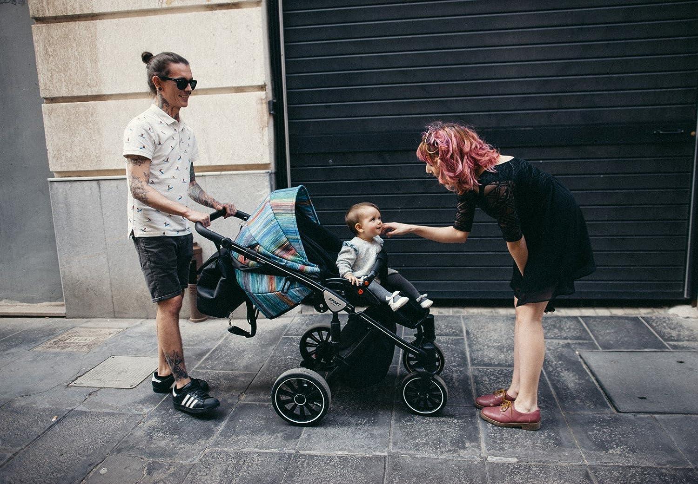 Sistema de viaje Anex 2 en 1 para bebé con cochecito y moisés deportivo, con adaptadores para asientos de coche Maxi-Cosi, Cybex, Kiddy y Be Safe AB05 ...
