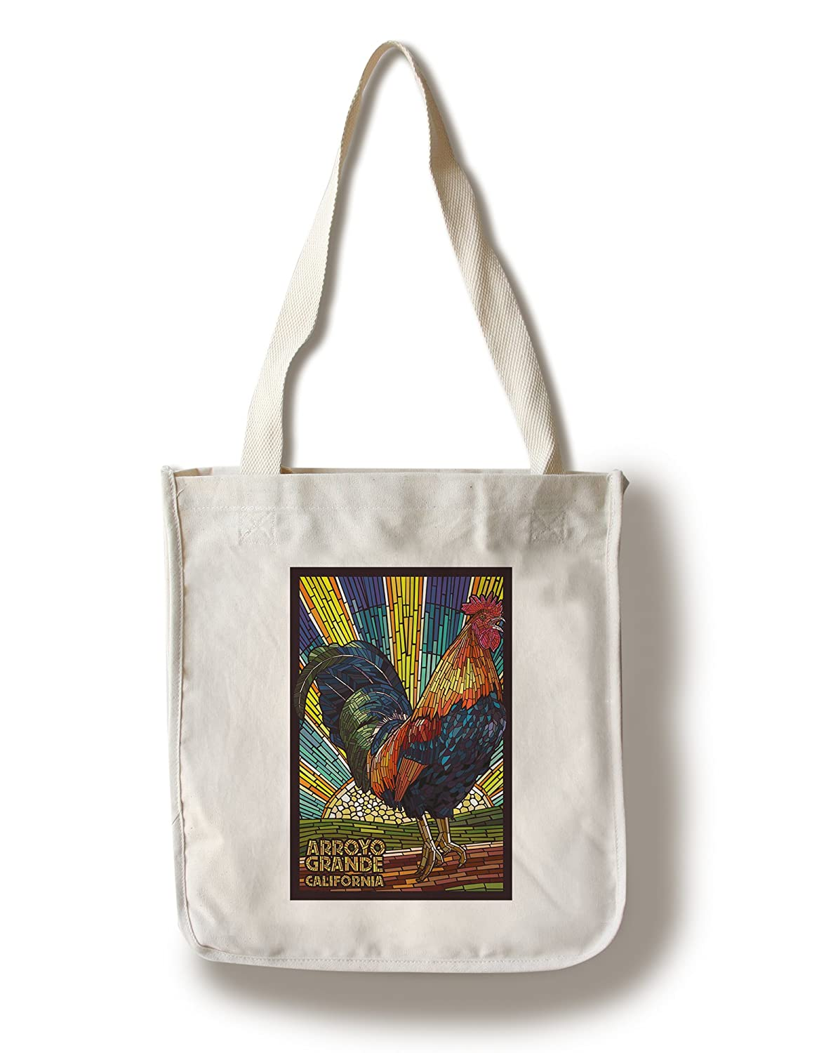 Arroyo Grande、カリフォルニア – Roosterモザイク Canvas Tote Bag LANT-47030-TT B01841L4YC Canvas Tote Bag