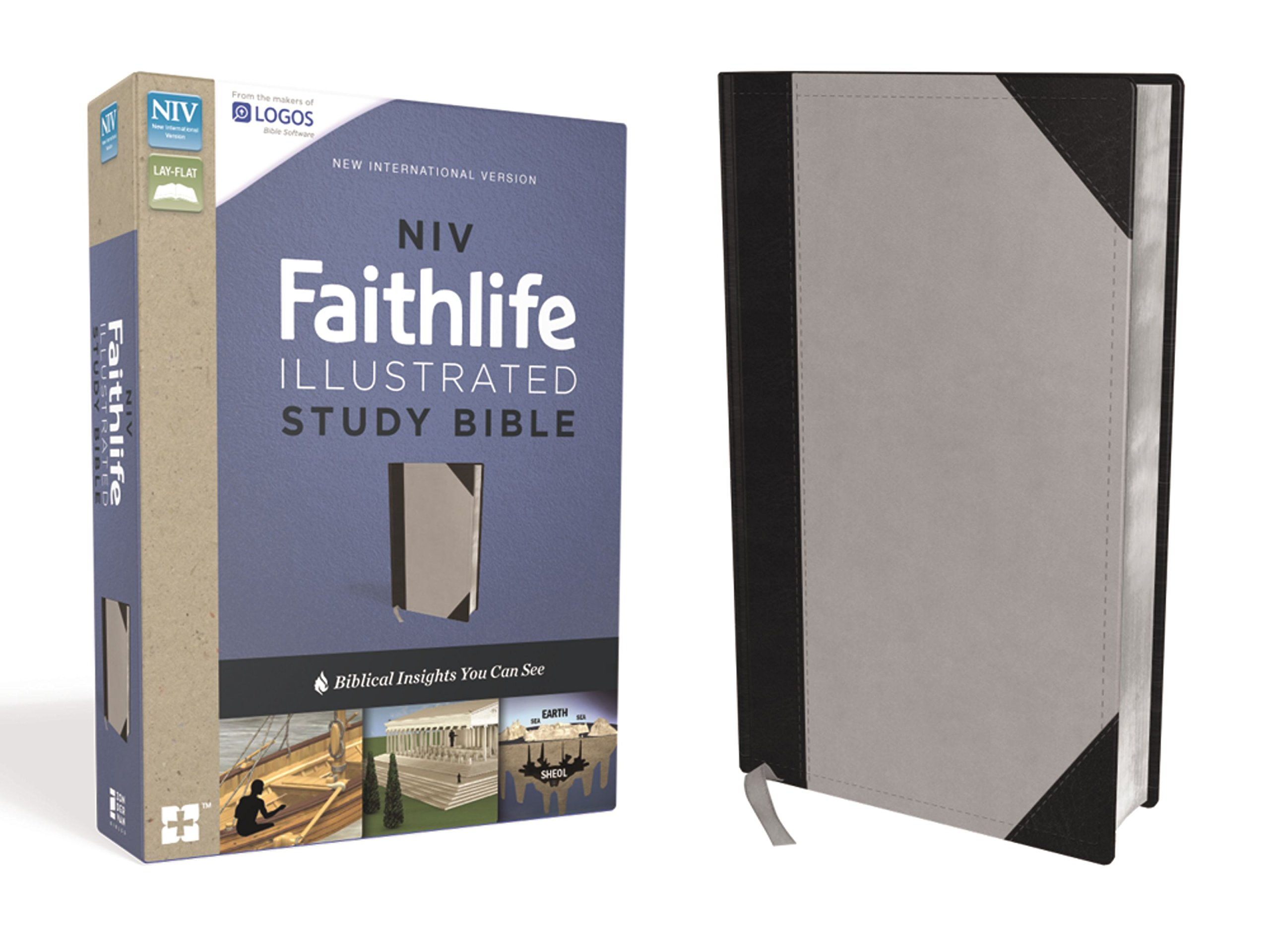 Read Online NIV, Faithlife Illustrated Study Bible, Leathersoft, Gray/Black: Biblical Insights You Can See pdf
