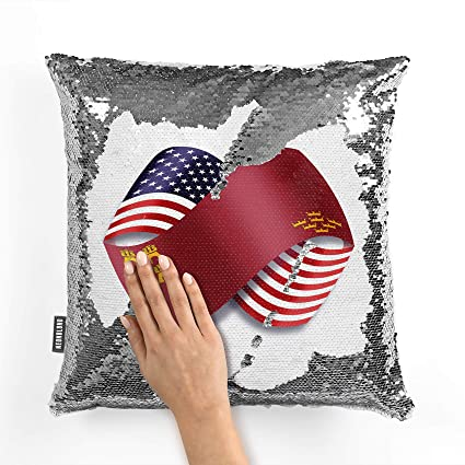 Amazon.com: NEONBLOND Mermaid Pillow Cover Infinity Flags ...