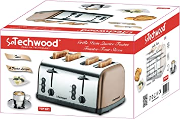 grille pain 4 fentes techwood tgp-841 inox