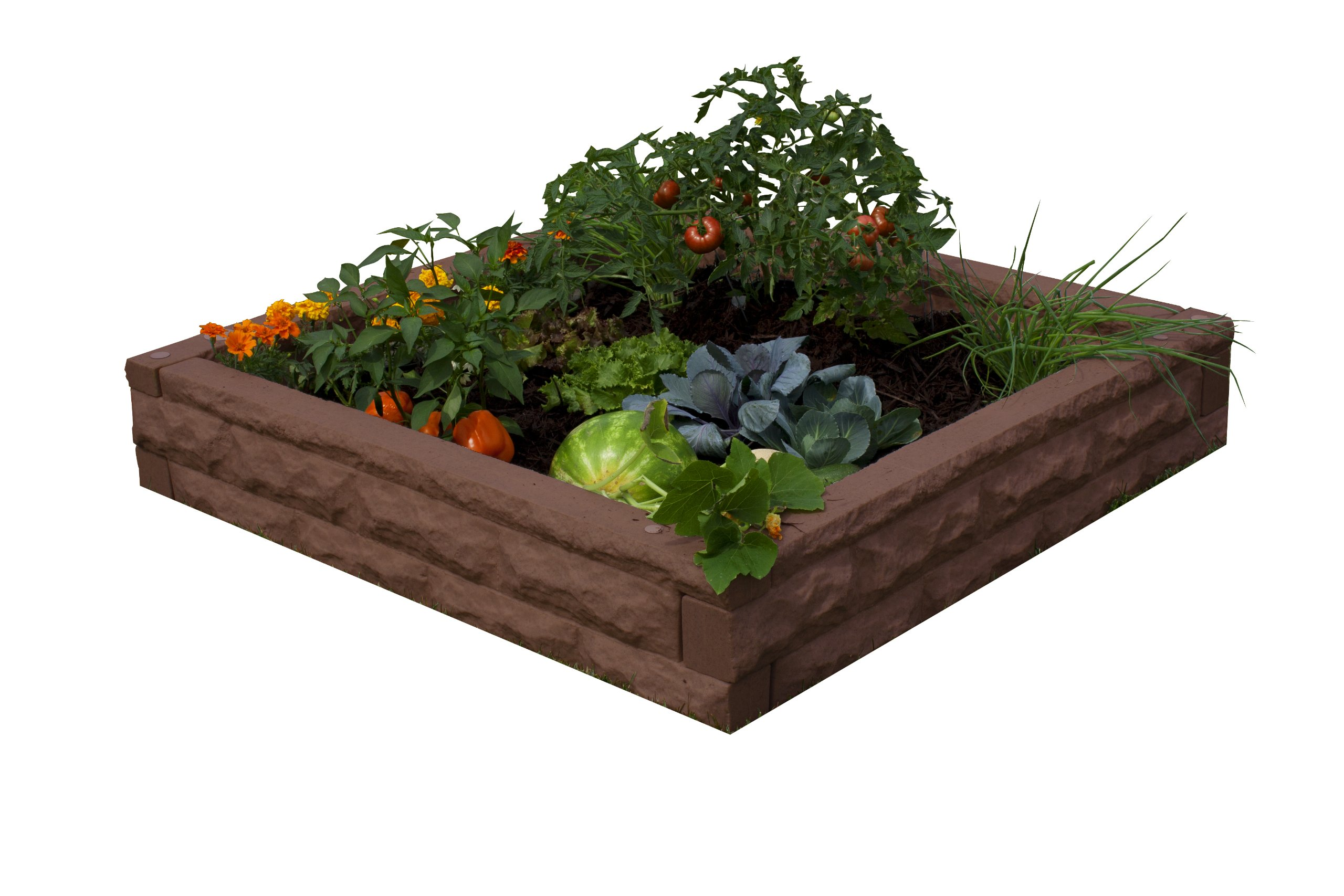 Good Ideas GW-RBG-RED Garden Wizard Raised Garden Bed, 4-Piece, Red Brick by Good Ideas