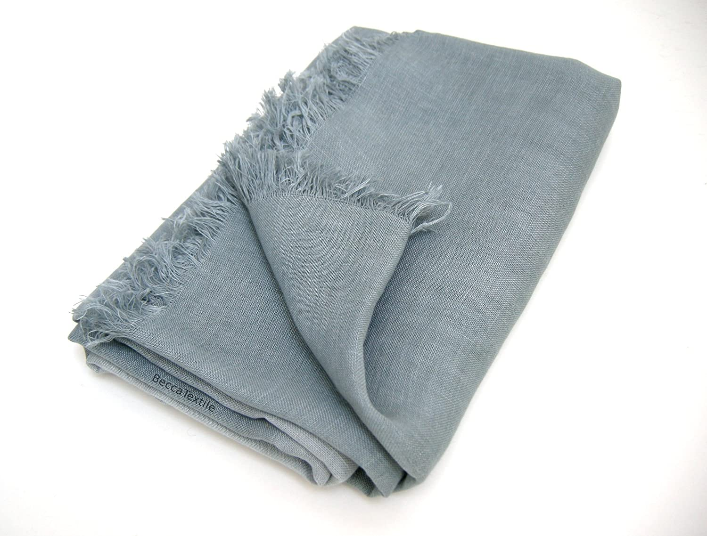 Manta de lino europeo de alta calidad, manta gris, ropa de ...