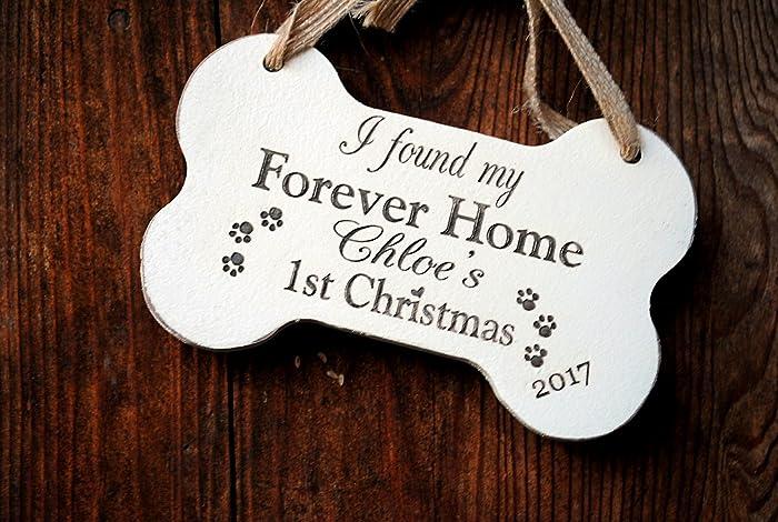 Dogs First Christmas Ornament.Amazon Com Dog First Christmas Ornament Rescue Dog