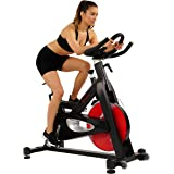 Sunny Health & Fitness Evolution Pro Magnetic Belt Drive Indoor Cycling Bike, High Weight Capacity, Heavy Duty Flywheel - SF-