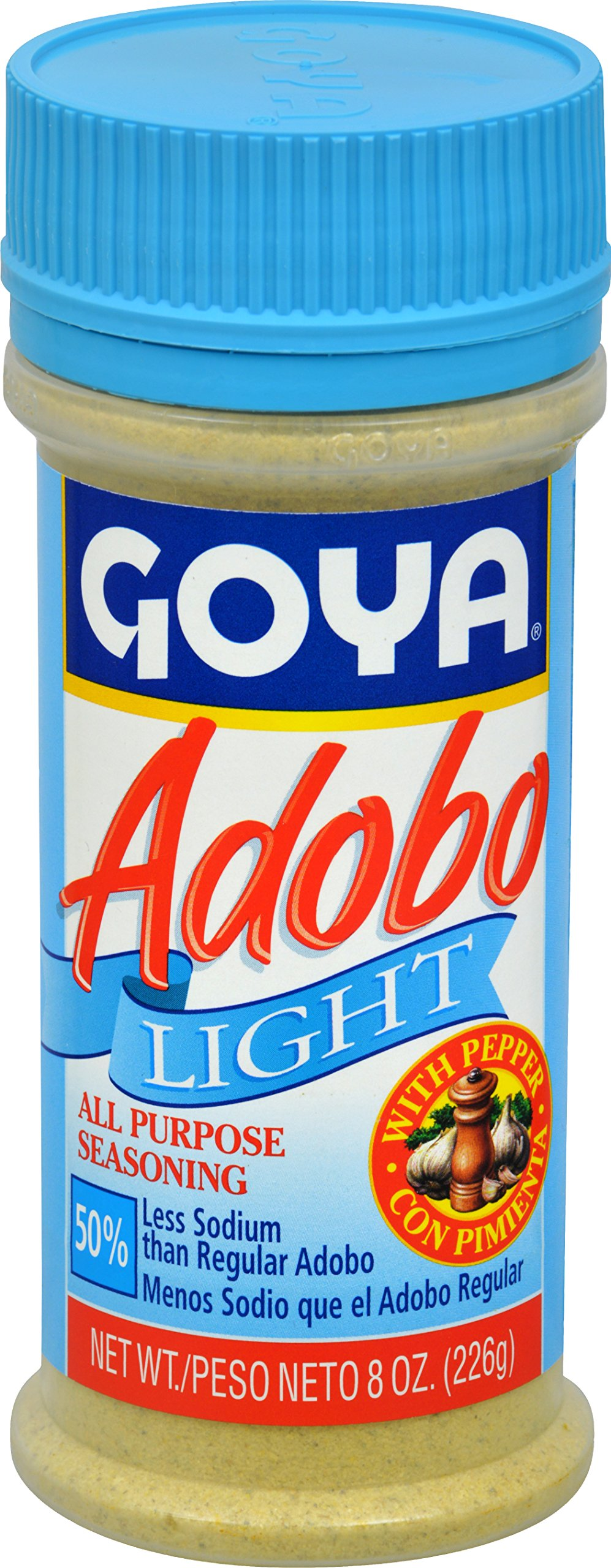 Goya Foods Adobo Light with Pepper, 8-Ounce (Pack of 24) by Goya