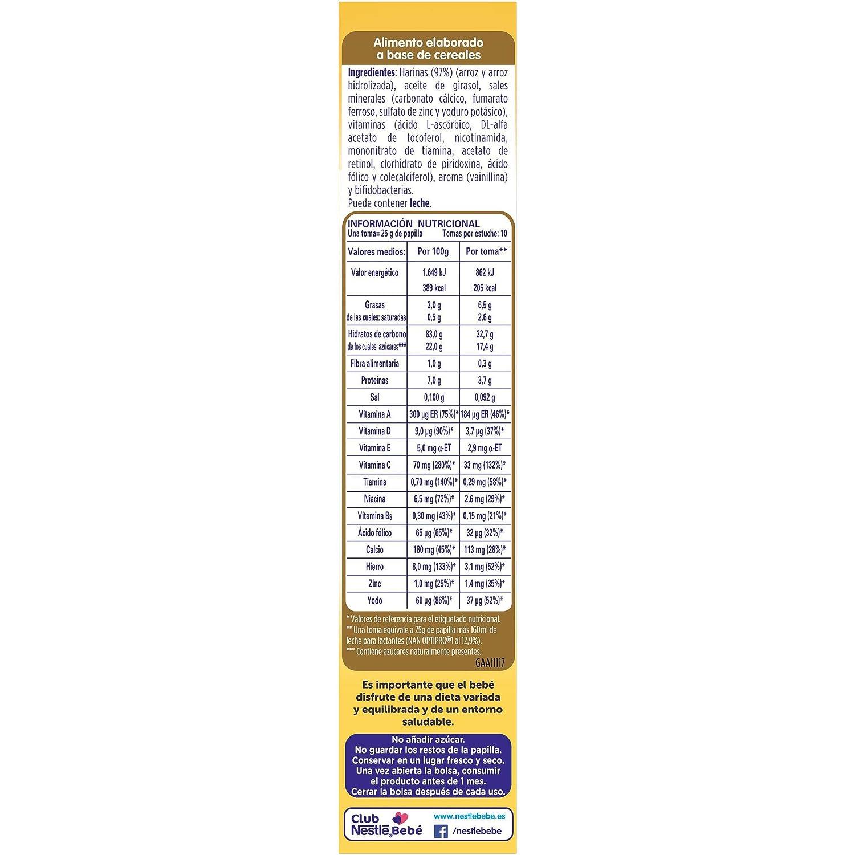 Nestlé Papillas NESTUM, Cereales para bebé, 3 de 250 gr - Total 750 gr: Amazon.es: Alimentación y bebidas
