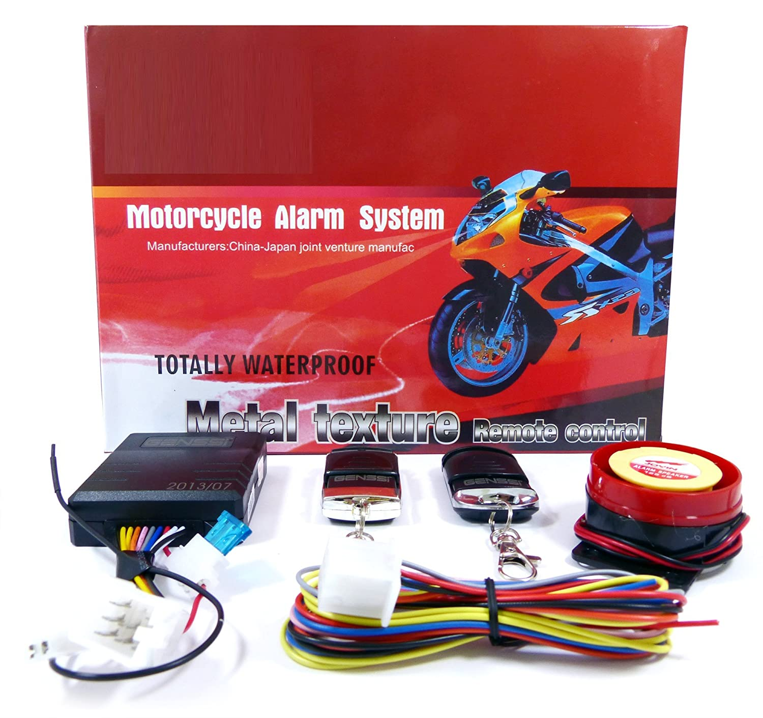 Basic Motorcycle Alarm Security System With 2 Remote Car Alarms Aftermarket W Kill Switch Harness Key Controls Siren Mp3 Players Accessories