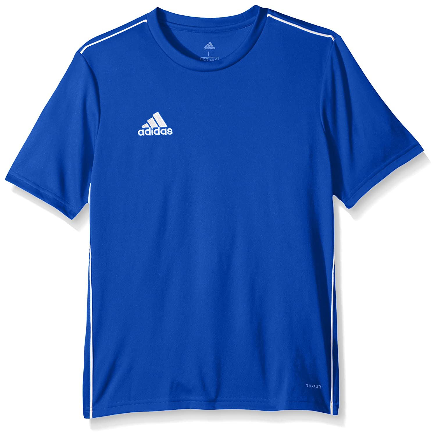 Adidasユニセックスユースサッカーcore18トレーニングジャージー B071YT5HKV Medium|Bold Blue/White Bold Blue/White Medium