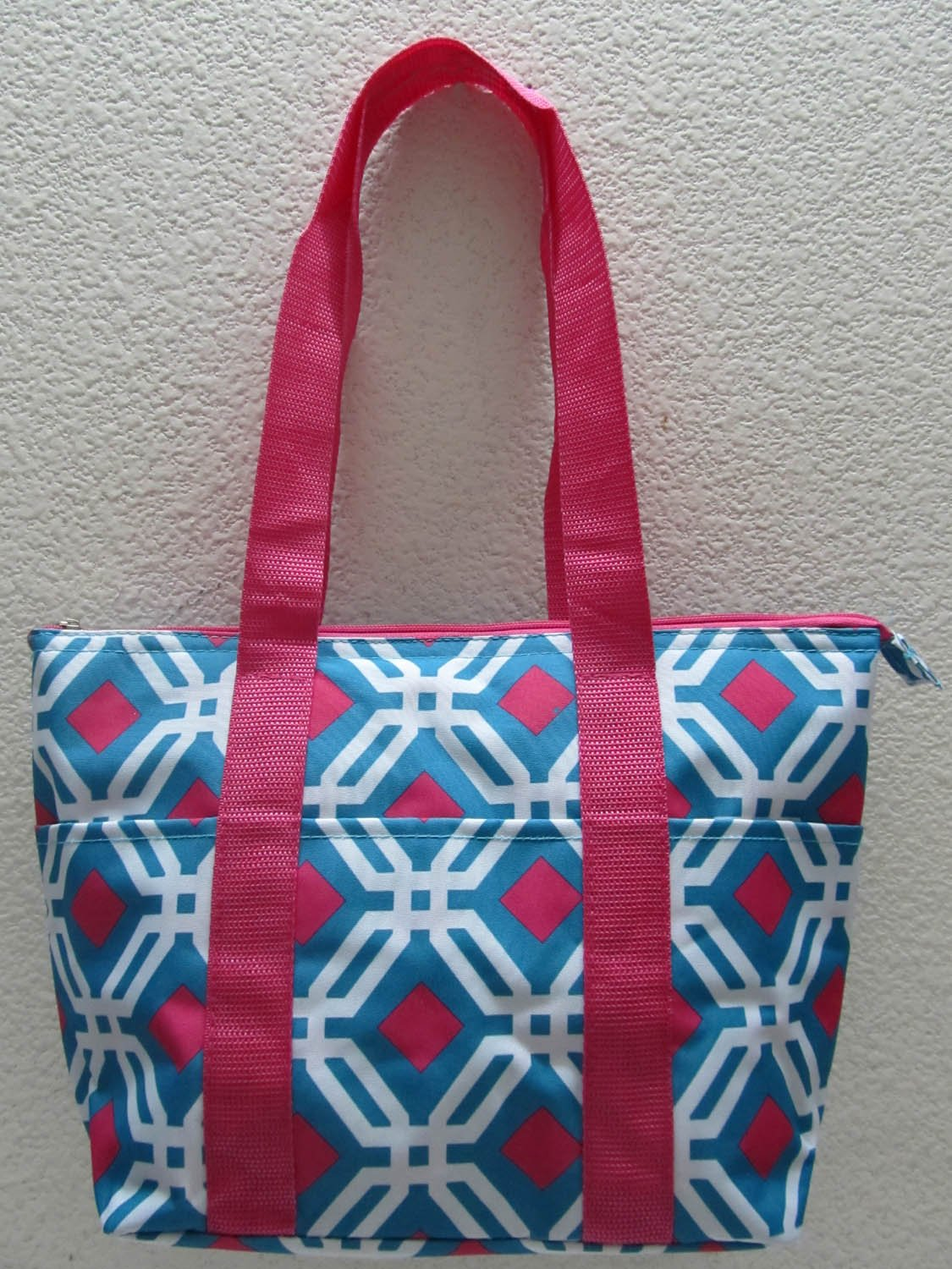 Good Bag Insulated Lunch Bag Portable Carry Storage Lunch Tote Bag - Blue Graphic