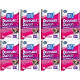 OUT! Disposable Diapers for Dogs, X-Small/Small, 16 Count, 8 Pack