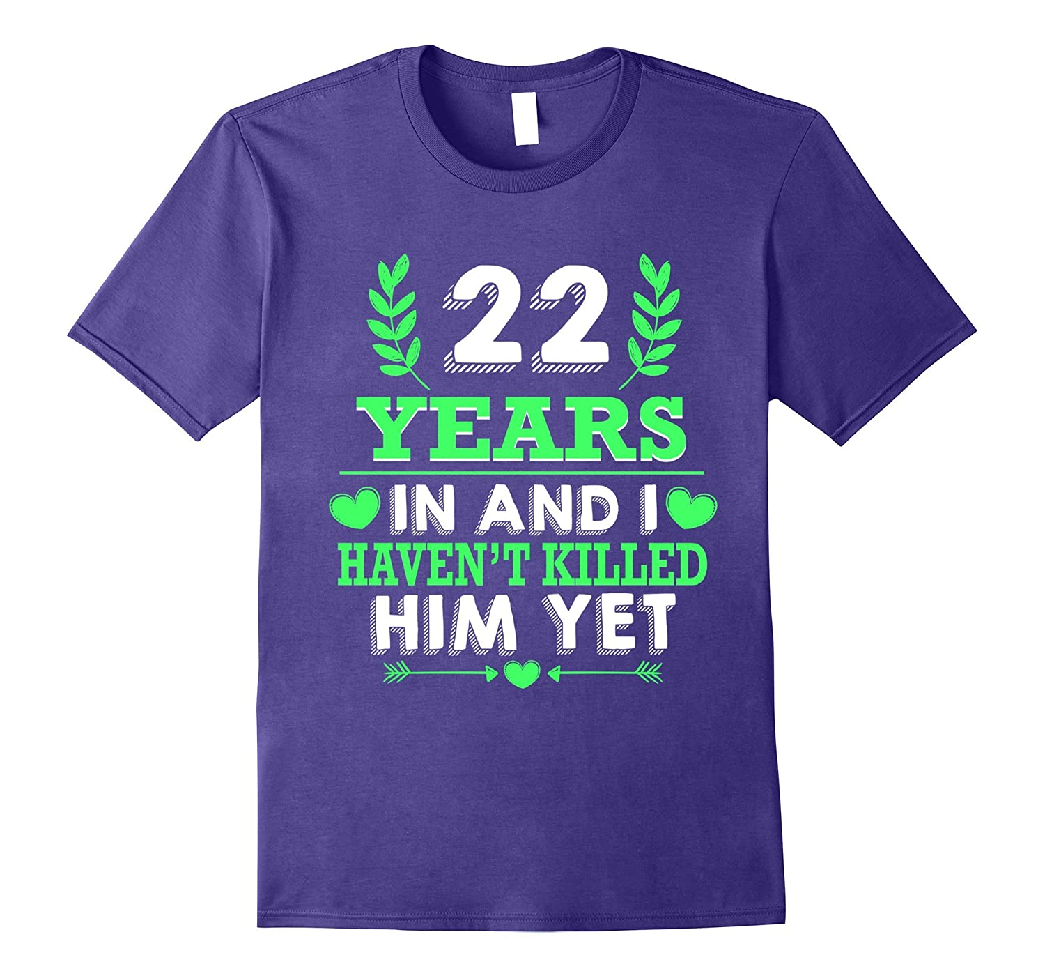 22nd Wedding Anniversary Gifts For Women. Couple Shirt.-TH