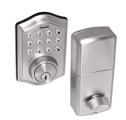 Merveilleux Honeywell Safes U0026 Door Locks 8712309 Electronic Entry Deadbolt With Keypad,  Satin Nickel