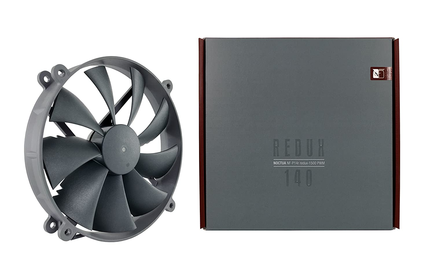 Noctua NF-P14r redux-1500 PWM 4-Pin High Performance Cooling Fan with 1500RPM 140mm, round, Grey