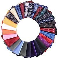 28 Pack Pocket Squares for Men Mens Pocket Squares Set Assorted Colors with a Holder