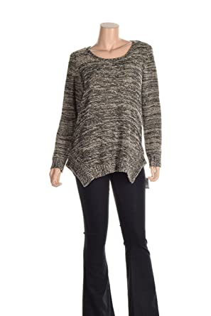 c8936e04fea9be Womens Asymmetrical Hem Metallic Knit Sweater Multicoloured 3X - Plus Size  at Amazon Women s Clothing store