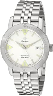 Zodiac Mens ZO9200 Heritage Analog Display Swiss Mechanical Automatic Silver Watch