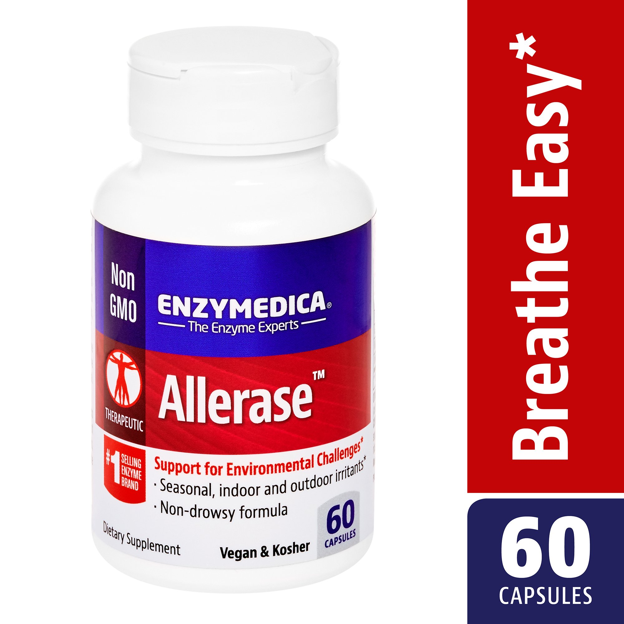 Enzymedica - Allerase, Support for Environmental Challenges, 60 Capsules (FFP)