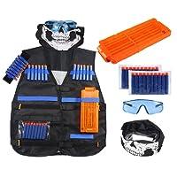 Kit de Chaleco Táctico,niceEshop(TM) Chaleco Tela de Nylon Ajustable con Dardos de Espuma para Pistolas Perfecto para Niños Juego de Lucha de Nerf