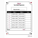Canasta Score Sheet | Amazon Com American Canasta Score Pads 5 Pack Toys Games