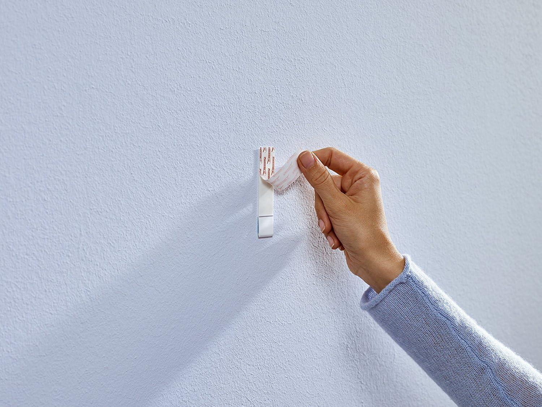 1 kg//2er Pack = 4 N/ägel 2/unidades potencia de sujeci/ón ajustable Tesa pegar agel para papel pintado y yeso