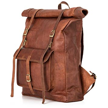 good out x special for shoe great look Sac à dos BERLINER BAGS Leeds XL ouverture roulée Cuir artisanal Voyage et  Quotidien Ordinateur Portable 15,6 17 pouces Marron Waterproof Femme Homme  ...