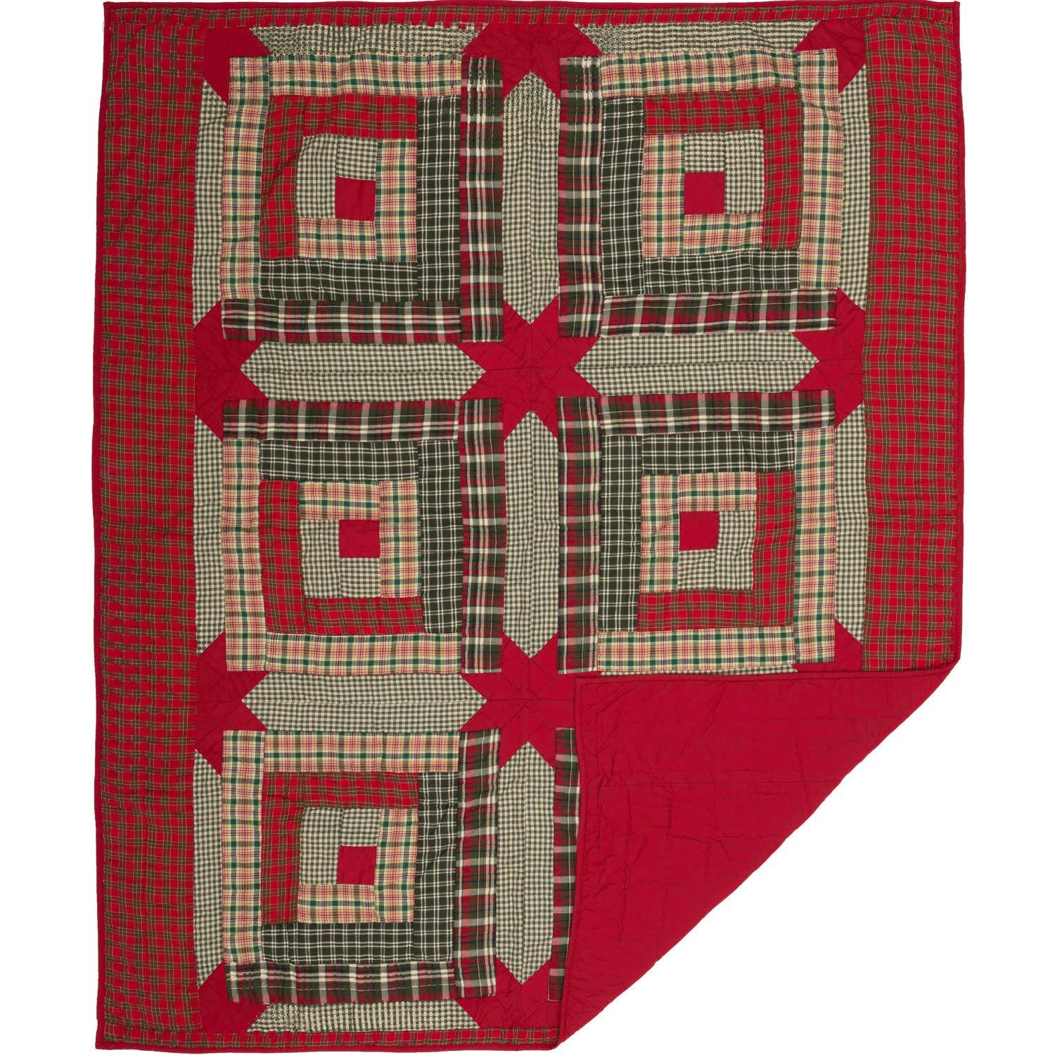 Red VHC Brands Forreston Cabin Quilted 60x50 Throw