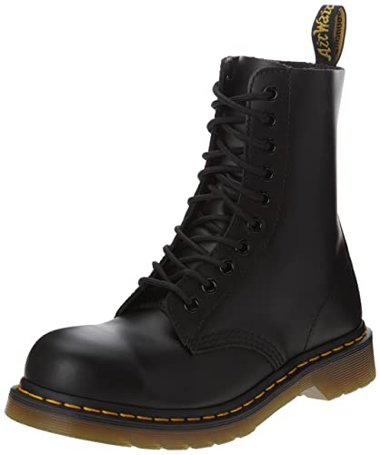 75f8bd06d Dr. Martens Classic 1919 Steel Toe Boot,Black Fine Haircell,13 UK/