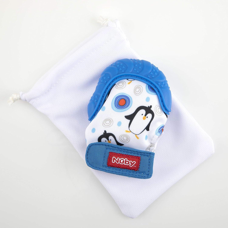Nuby Teething Mitt Blue Teether for Babies 3 Months Onward