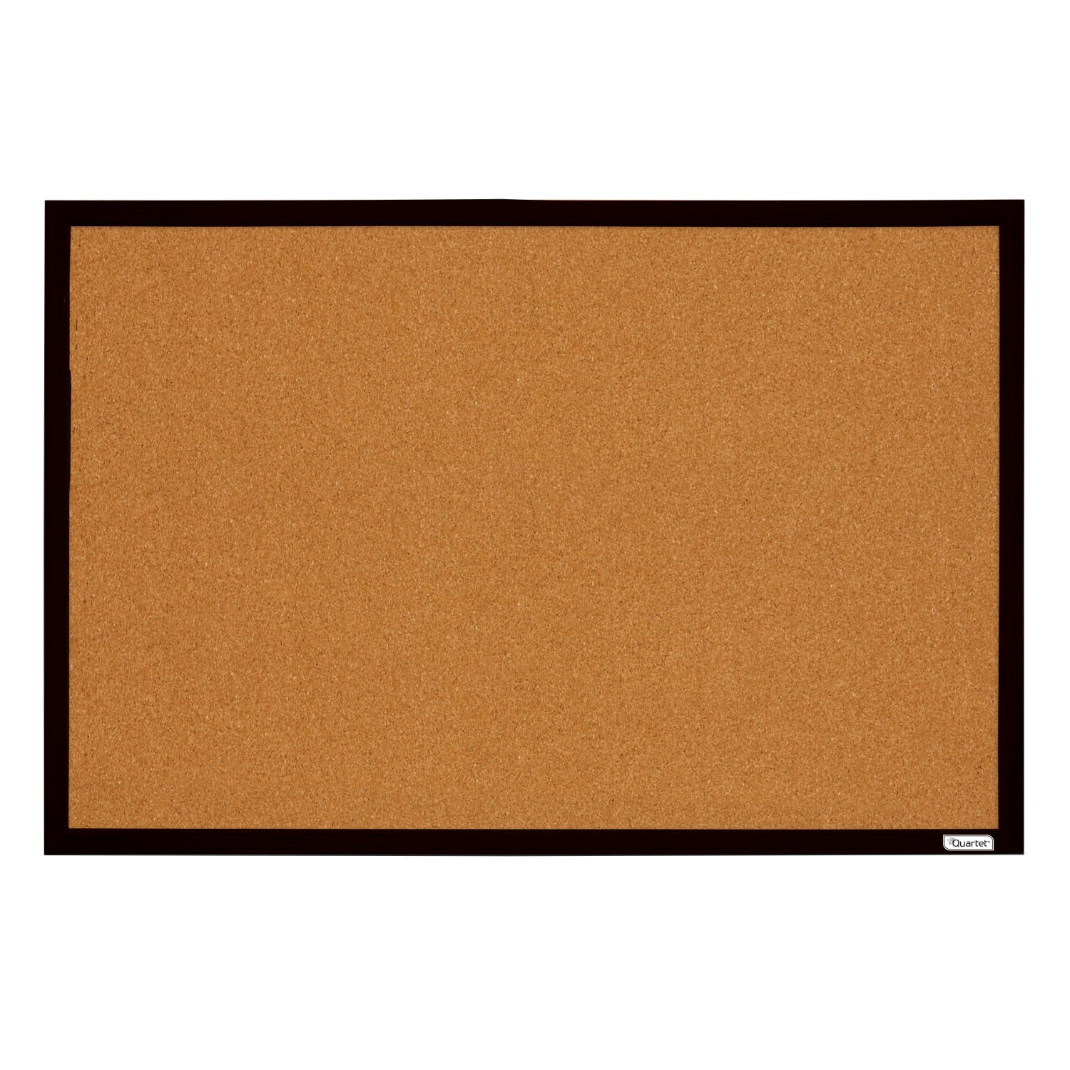 quartet bulletin board cork board 2u0027 x 3u0027 black frame