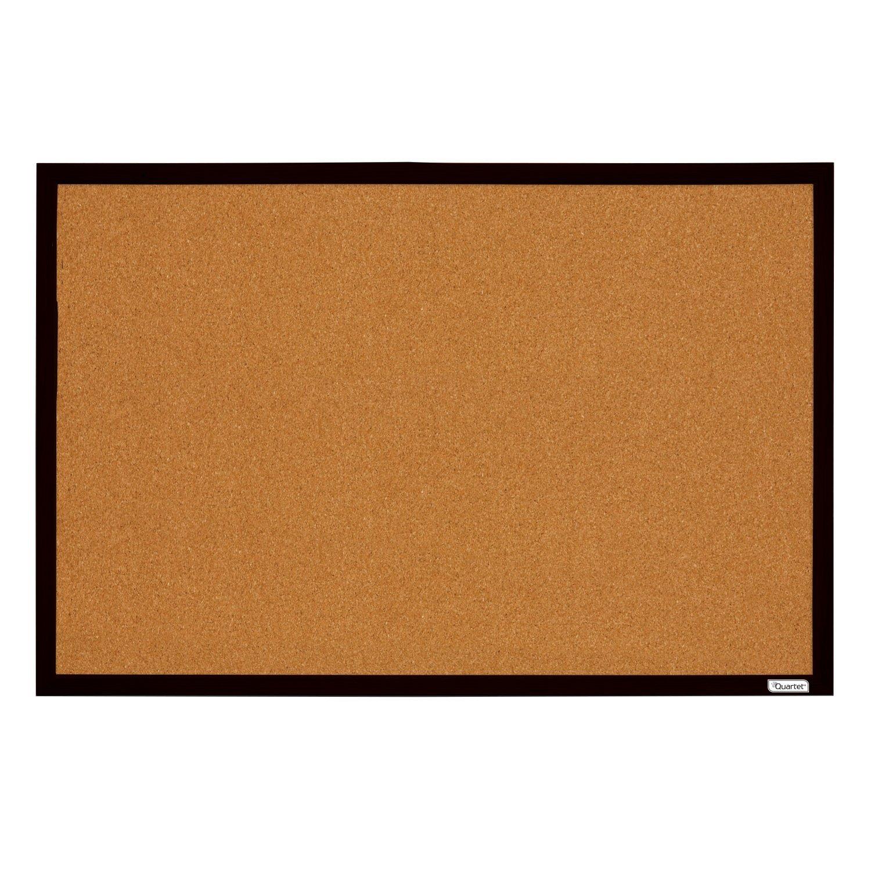 Quartet Cork Bulletin Boards, 2' x 3', Black Frame, Corkboards, Case of 6 (MWDB2436-BK-CS)