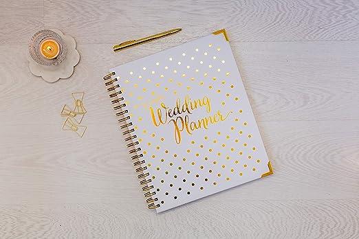 Amazon.com: [nuevo] agenda de boda dorada – Agenda de ...