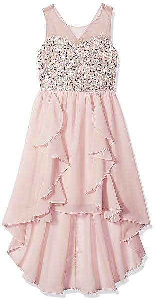 8eab5dbcfc4 Tween Diva girls Big Girls High Low Special Occasion Dress  Amazon.ca   Clothing   Accessories