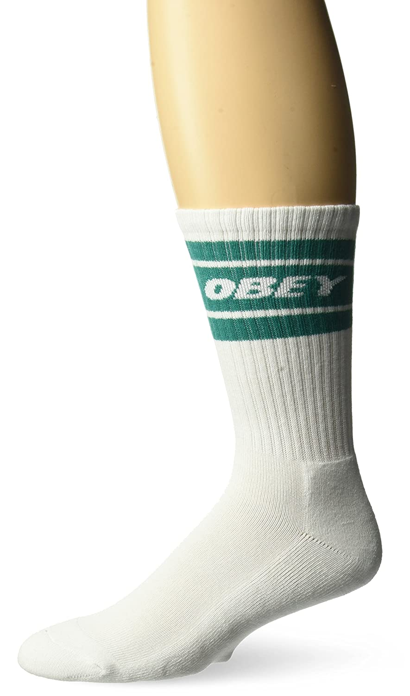Obey Calze Cooper Socks White//Navy