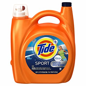Product of Tide Plus Febreze Sport Active Fresh Scent HE Turbo Clean Liquid Laundry Detergent,