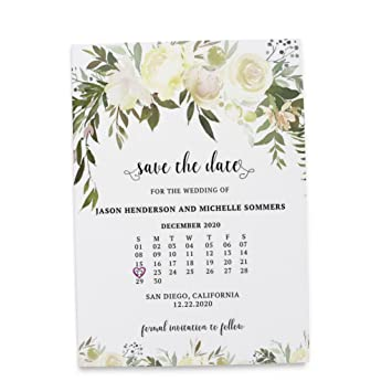 Amazon Com Simple Minimalist Save The Date Cards For
